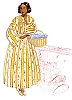 Past Pattern Fashionable Late 1840s to Early 1850s Round Dress  Sewing Pattern.